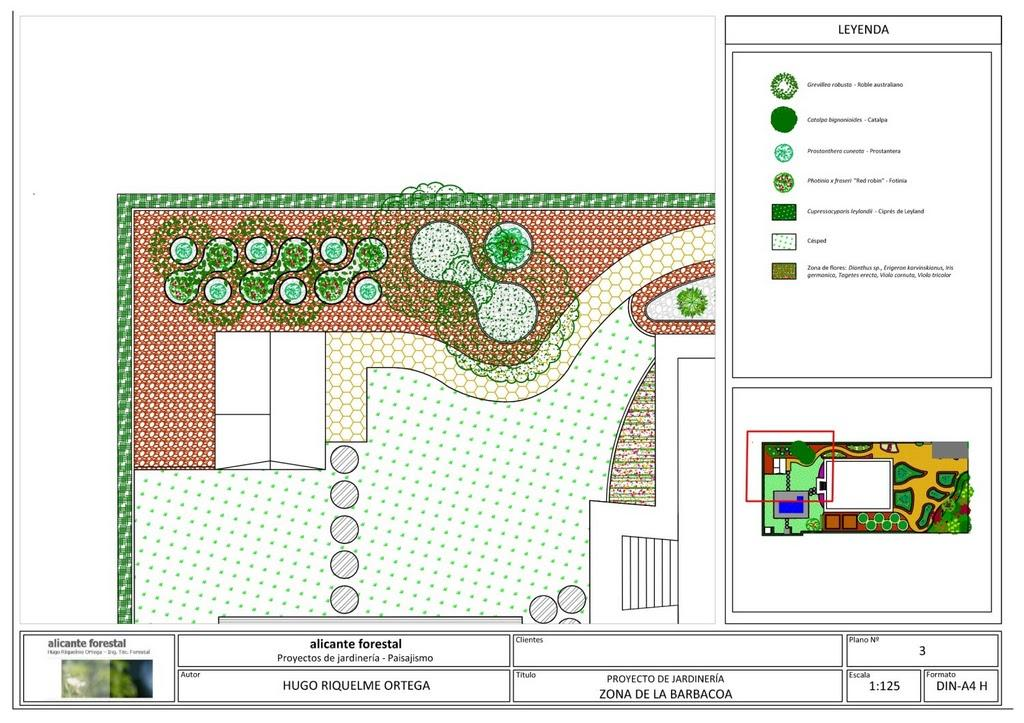 Diseño de jardín en San Vicente del Raspeig - Zona de barbacoa