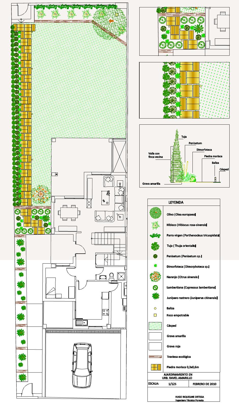 diseño de jardín jardinería paisajismo plano muchamiel alicante proyecto