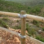Cómo no se hace un vallado de madera