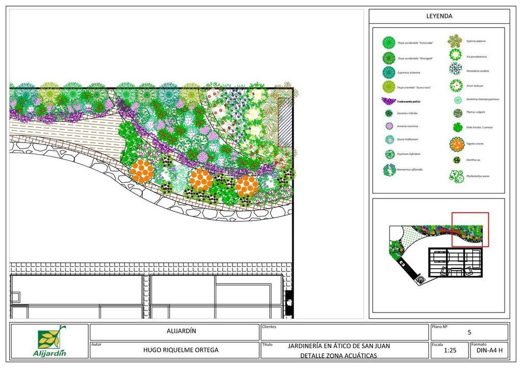Dise o para terraza en san juan alicante forestal - Disenos de jardineria ...