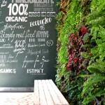 Jardín vertical en Barcelona – Restaurante Organics