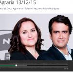 Entrevista en Onda Cero – Diciembre 2015