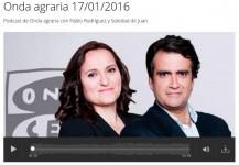 Entrevista sobre cubiertas vegetales en Onda Agraria, de Onda Cero