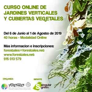 Nuevo curso online de jardines verticales y cubiertas vegetales