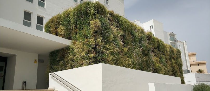 Jardín vertical en el hotel HM Tropical, Mallorca