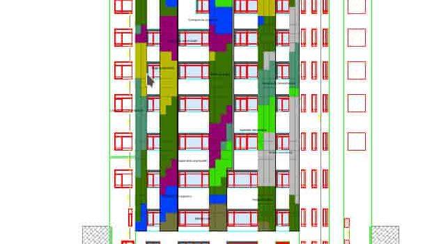Jardín vertical de sistema LeafSkin en Madrid