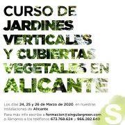 Curso presencial de jardines verticales y cubiertas vegetales